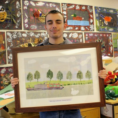 Student artwork takes pride of place in the Minister for Education's office