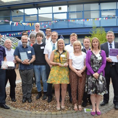 RNIB College Loughborough say thank you to this year's employer supporters